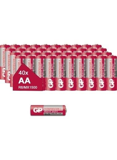 GP Gp 15E Powercell Kalem Pil Çinko Karbon Aa R6, 1.5V, 40 Lı Paket Renksiz